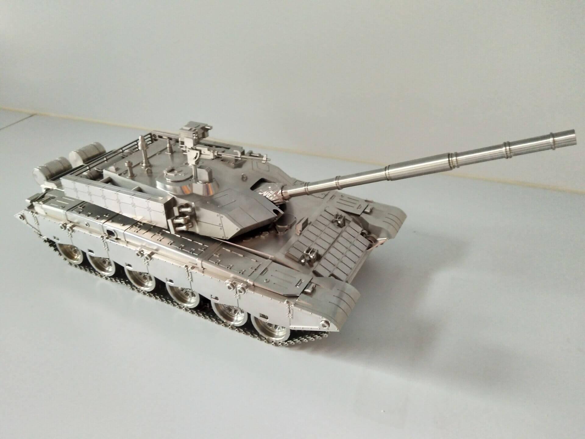 CNC machined Battle Tank Model