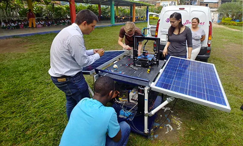 Solar Power 3D Printing Systems