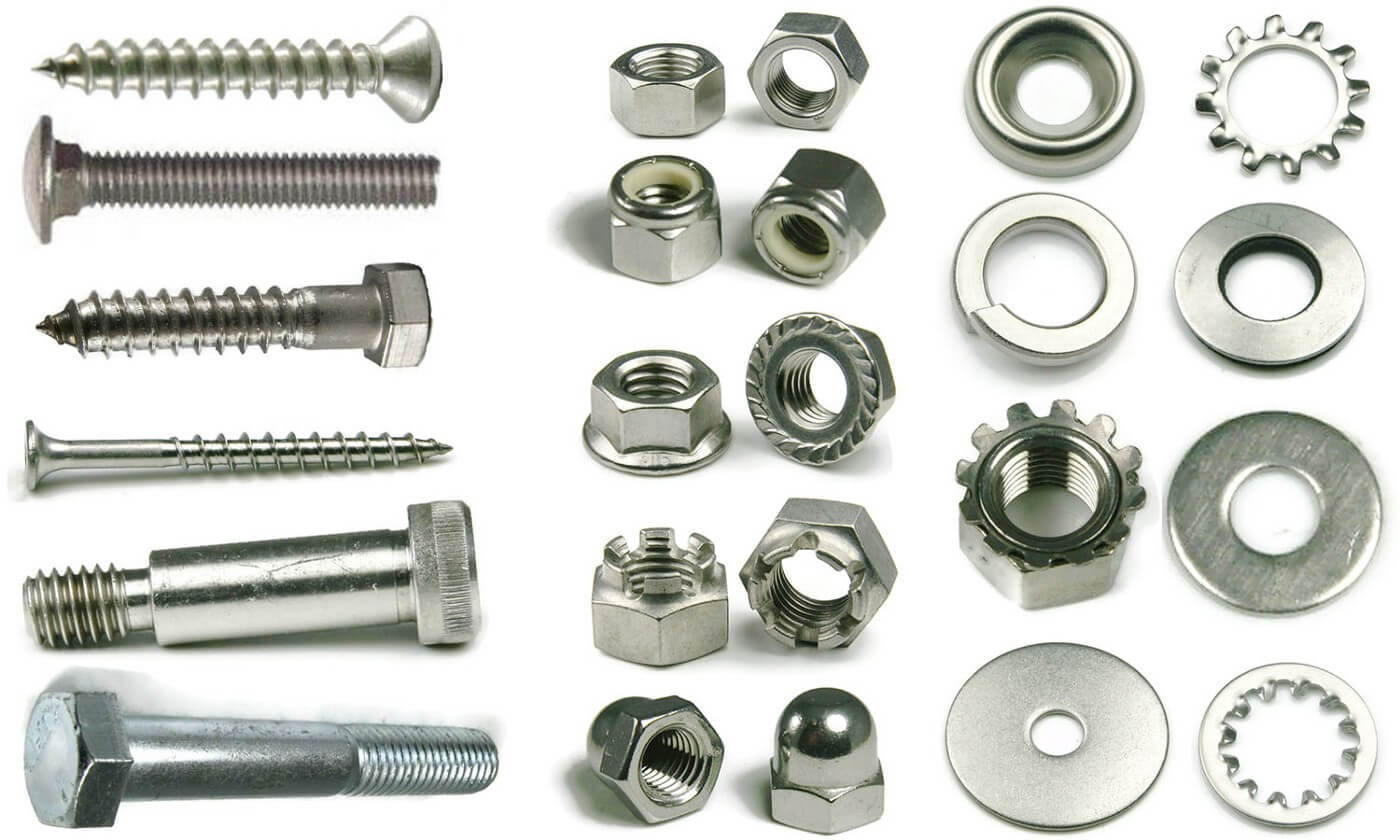 Different types of fasteners used in manufacturing: Screws, bolts & beyond